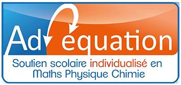 Adéquation, Soutien scolaire individualisé en Maths et physique chimie, logo